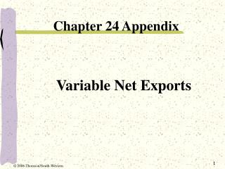 Variable Net Exports