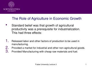The Role of Agriculture in Economic Growth
