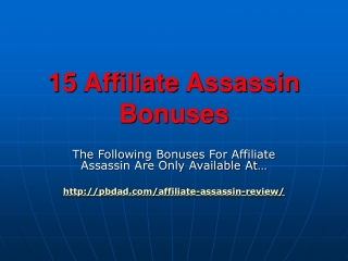 Affiliate Assassin Review
