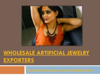Wholesale Artificial Jewelry Exporters