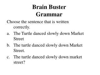 Brain Buster Grammar