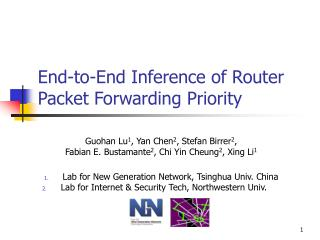 End-to-End Inference of Router Packet Forwarding Priority
