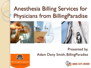 Anesthesia billing services from BillingParadise