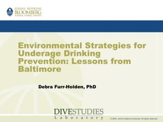 Environmental Strategies for Underage Drinking Prevention ...