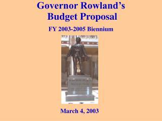 Governor Rowland s