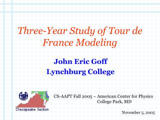Three-Year Study of Tour de France Modeling