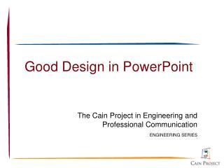 Good Design in PowerPoint