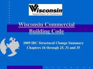 Wisconsin Commercial Building Code