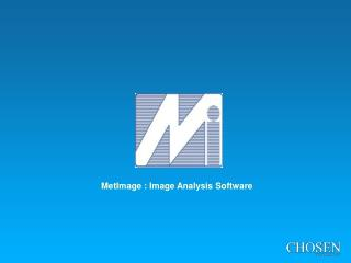 MetImage : Image Analysis Software
