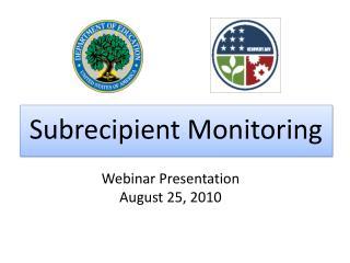 Webinar Presentation August 25, 2010