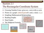Section 2.1   The Rectangular Coordinate System