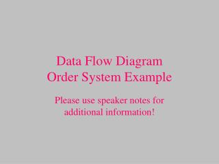 Data Flow Diagram Order System Example