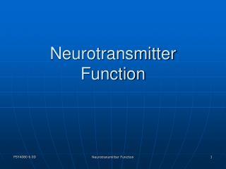 Neurotransmitter Function