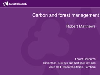 Carbon and forest management