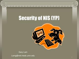 Security of NIS YP