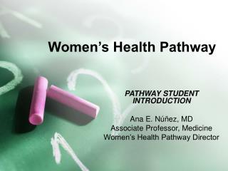 Women s Health Pathway