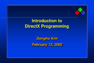 Introduction to DirectX Programming