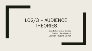 Overview of Theories presented in Media Effects text