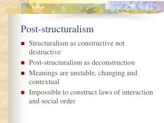 Post-structuralism