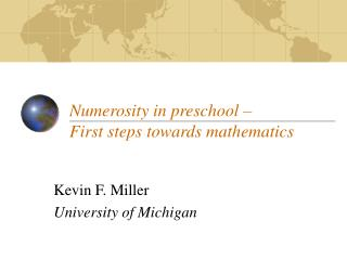 Numerosity in preschool    First steps towards mathematics