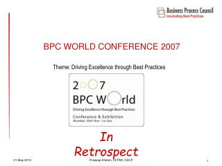 BPC WORLD CONFERENCE 2007