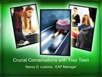 Crucial Conversations with Your Teen
