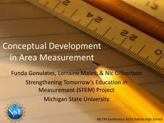 Conceptual Development  in Area Measurement