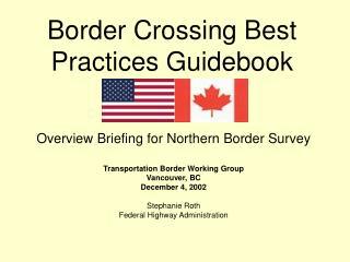 Border Crossing Best Practices Guidebook