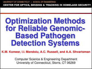 Optimization Methods for Reliable Genomic-Based Pathogen Detection Systems