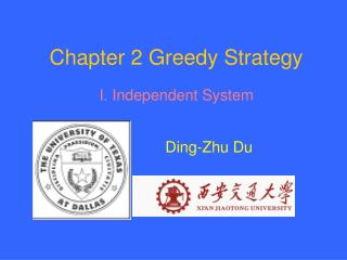 Chapter 2 Greedy Strategy