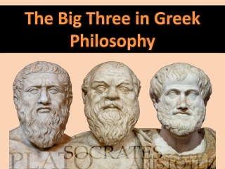SOCRATES-PLATO-ARISTOTLE
