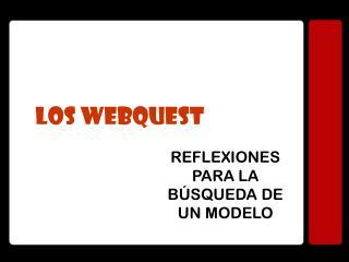 LOS WEBQUEST