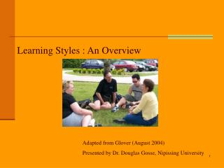 Learning Styles : An Overview