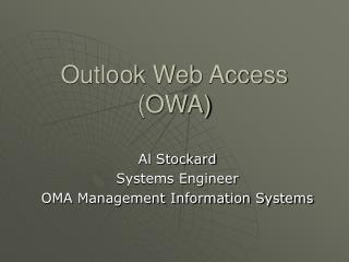 Outlook Web Access OWA