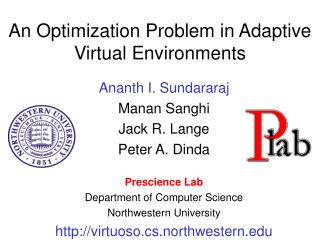 An Optimization Problem in Adaptive Virtual Environments