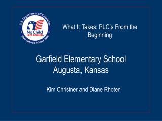 Garfield Elementary School Augusta, Kansas