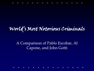 World s Most Notorious Criminals