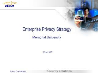 Enterprise Privacy Strategy
