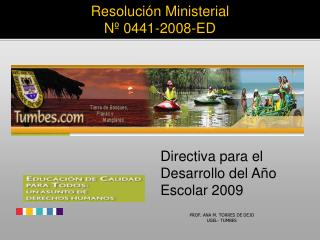 Resoluci n Ministerial N  0441-2008-ED