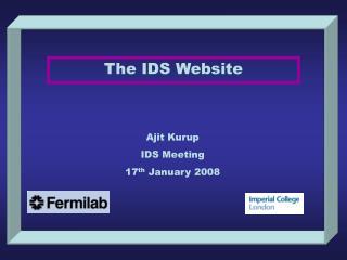 The IDS Website