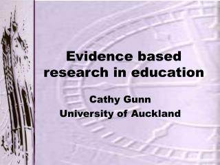 Evidence based research in education