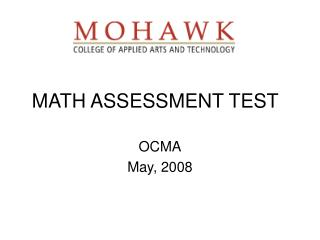 MATH ASSESSMENT TEST