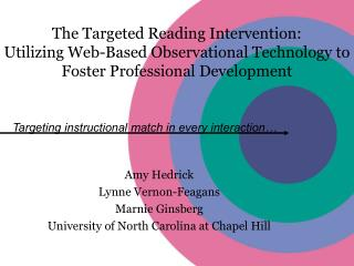 The Targeted Reading Intervention:  Utilizing Web-Based Observational Technology to Foster Professional Development