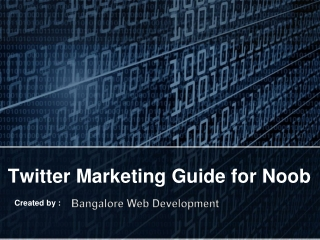 Twitter Marketing Guide for Noob