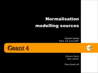 Normalisation  modelling sources