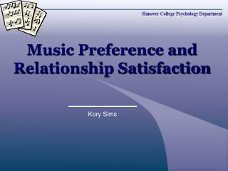 Music Preference and Relationship Satisfaction