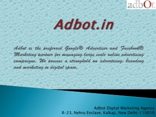 Adbot- Digital Marketing