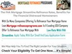 The FHA Mortgage Streamline Refinance Rates