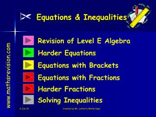Equations  Inequalities
