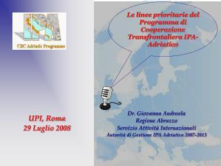 Le linee prioritarie del Programma di Cooperazione Transfrontaliera IPA-Adriatico